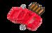 RFR Flat Race Pedalen rood